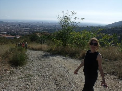 hiking above Barcelona, 2009