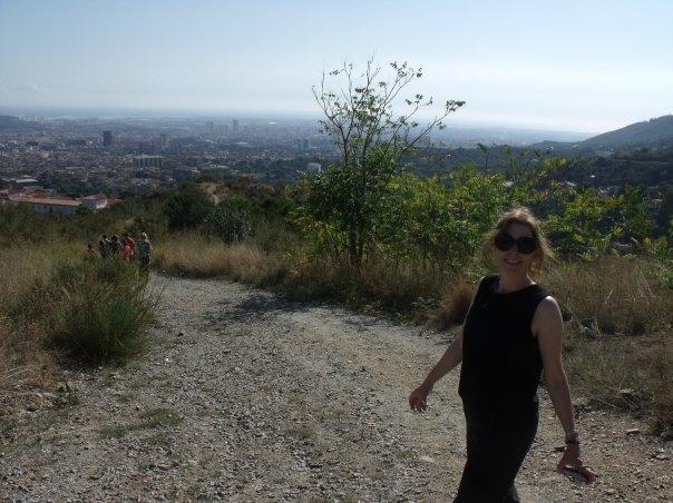 hiking above Barcelona, 2009