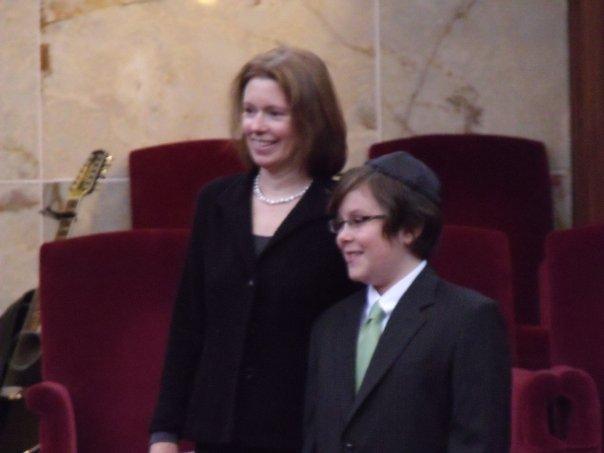 with Jacob at his bar mitzvah, 2009