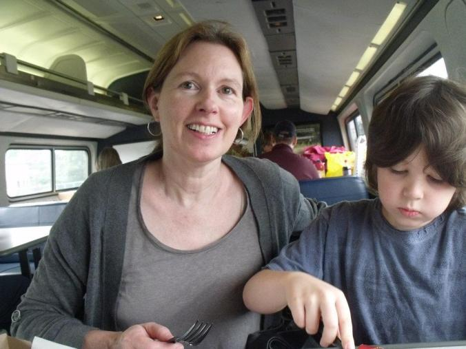 on the train with Ben